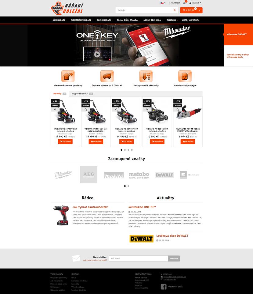 nový vzhled e-shopu
